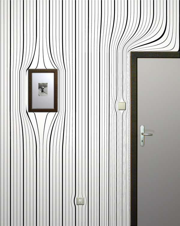Drawn optical illusion interior design Wallpaper Wallpaper Best ideas Illusion