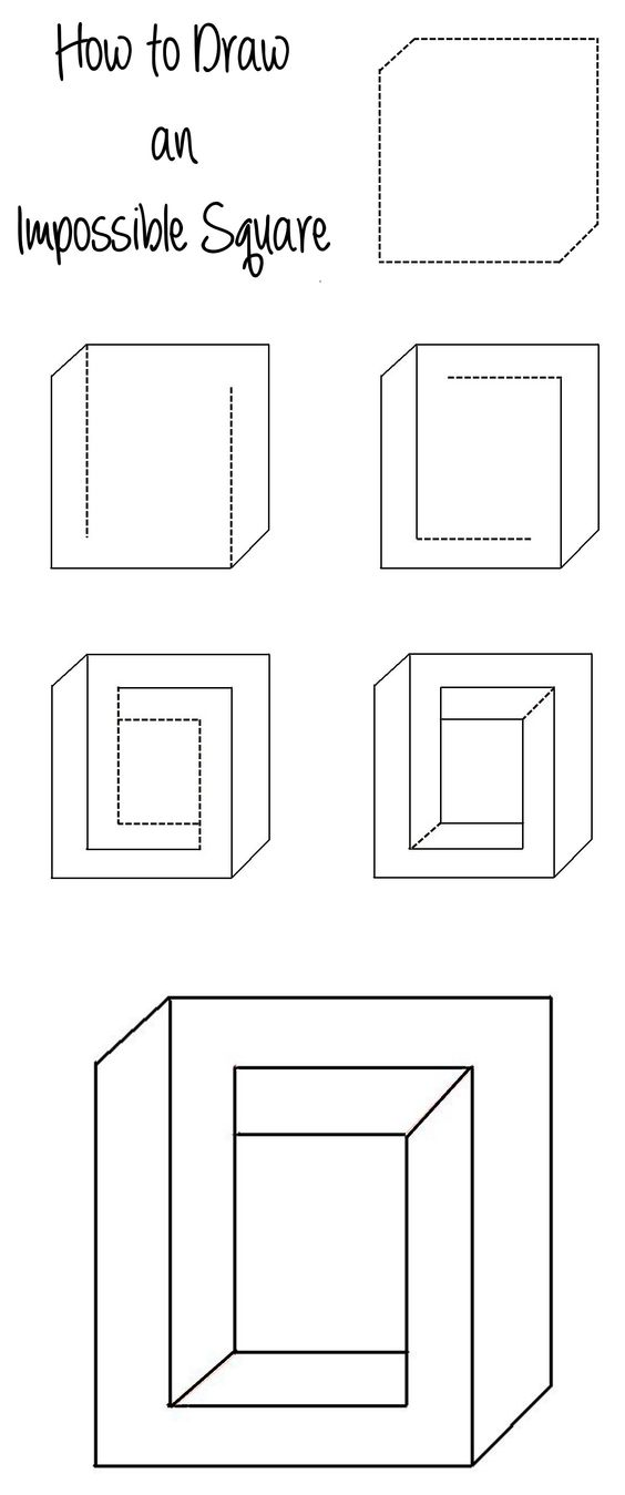 Drawn optical illusion meets An Square Illusion to Square