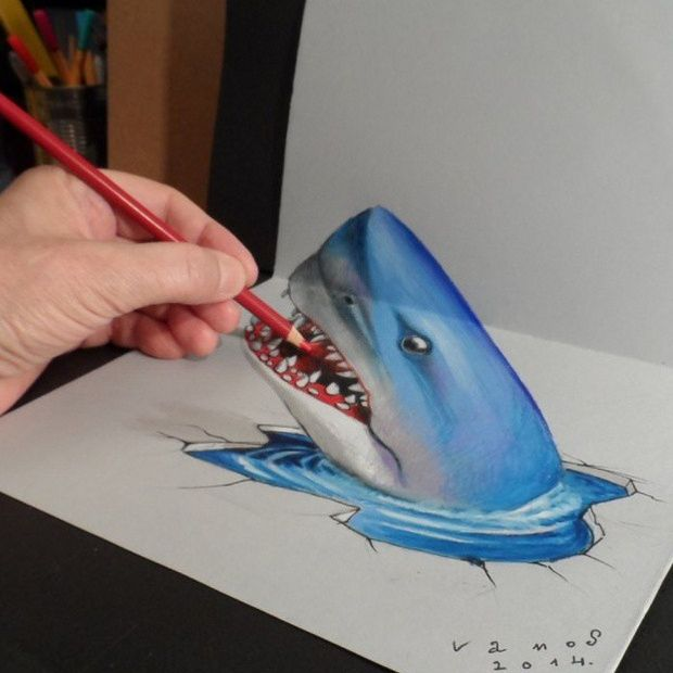 Drawn optical illusion meets On on app illusions 3d