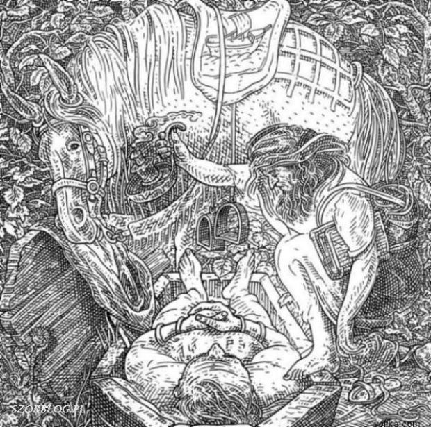 Drawn zodiac optical illusion #4