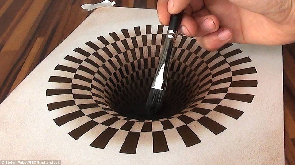 Drawn optical illusion mind bending Incredible Stefan paintings This will