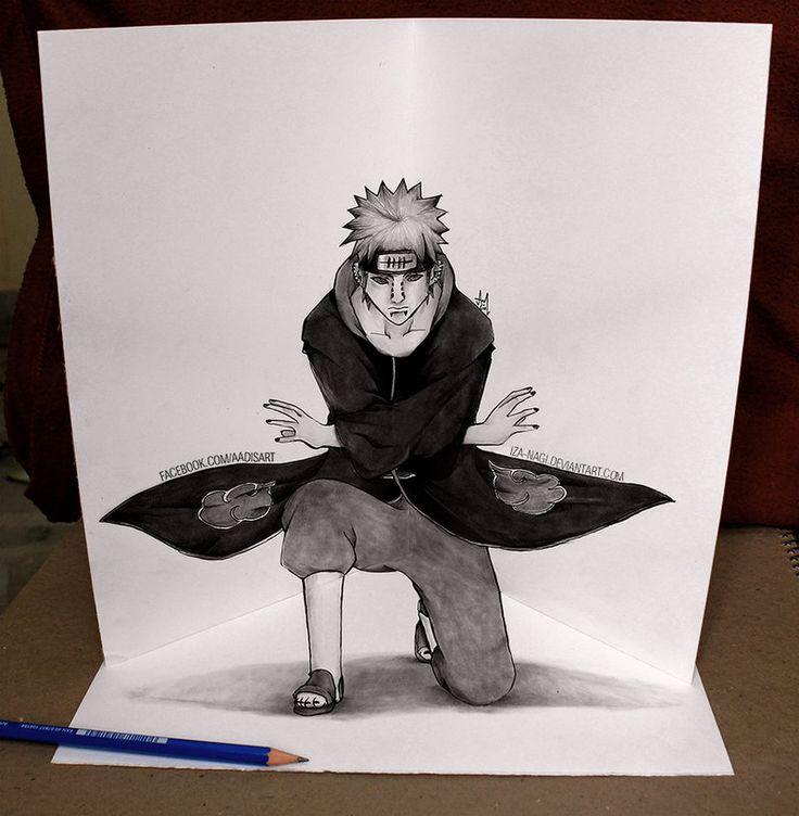 Drawn optical illusion naruto Pein images @deviantART 24 SearchIllusionsSketchesDrawings