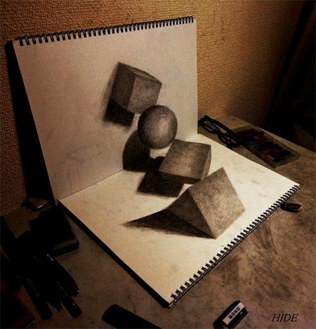 Drawn optical illusion naruto 3D by Drawings Pencil 3D