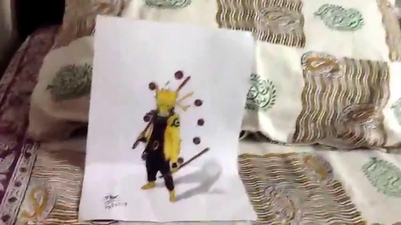 Drawn optical illusion naruto Naruto drawing drawing senjutsu YouTube