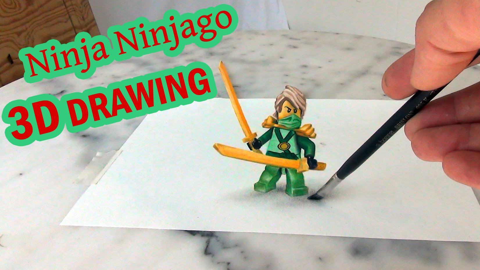 Drawn optical illusion ninja 3D Ninja YouTube optical //