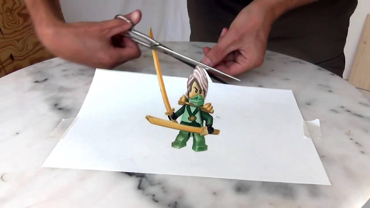 Drawn optical illusion ninja From optical Drawing illusion Ninjago