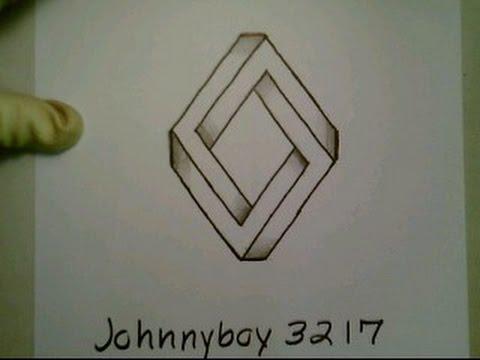 Drawn optical illusion ninja Triangle To By New Diamond