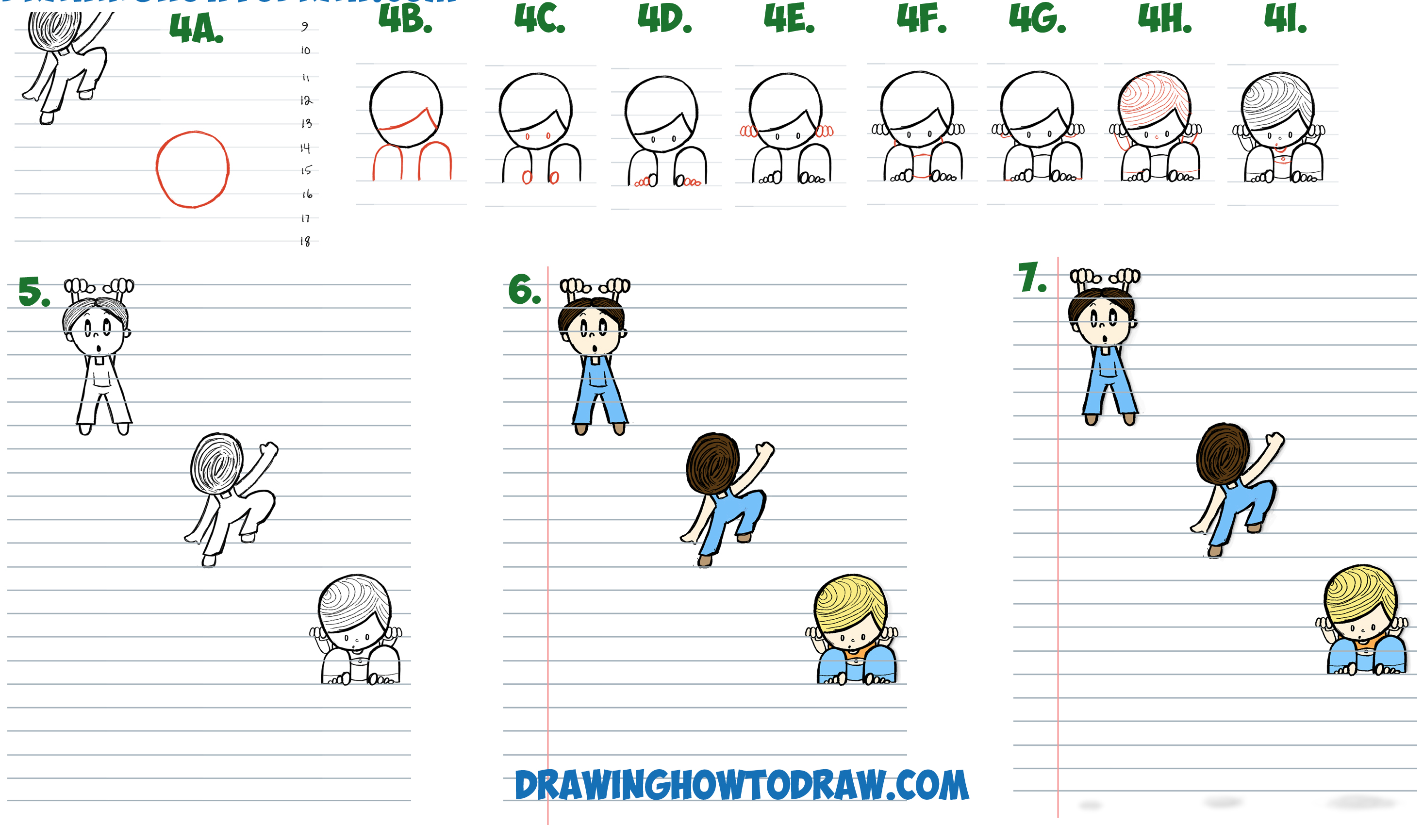 Drawn optical illusion notebook paper Draw Cartoon Paper and to