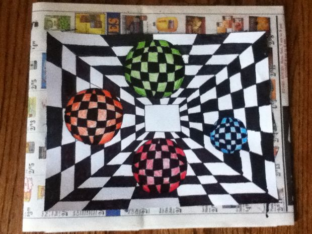 Drawn optical illusion obstacle Pictures) Sharpie Steps (with DIY