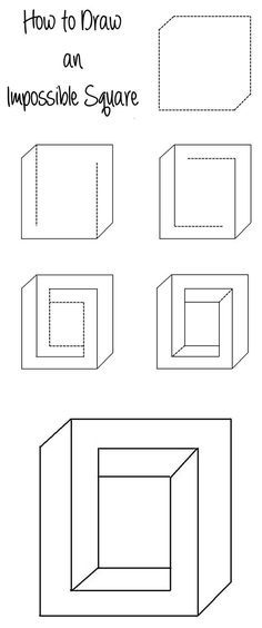 Drawn optical illusion obstacle #ShermanFinancialGroup How #Optical ideas How