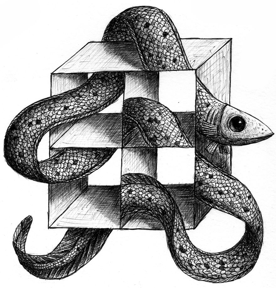 Drawn optical illusion obstacle The To Off To Optical