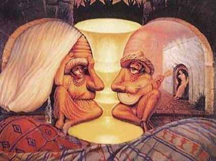 Optical Illusion clipart obstical Couple Illusions Old Face