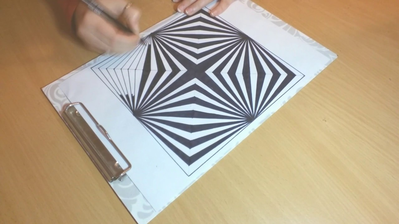 Drawn optical illusion op art Or to draw op #33