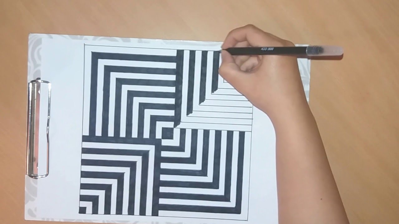 Drawn optical illusion op art Or to draw op #29