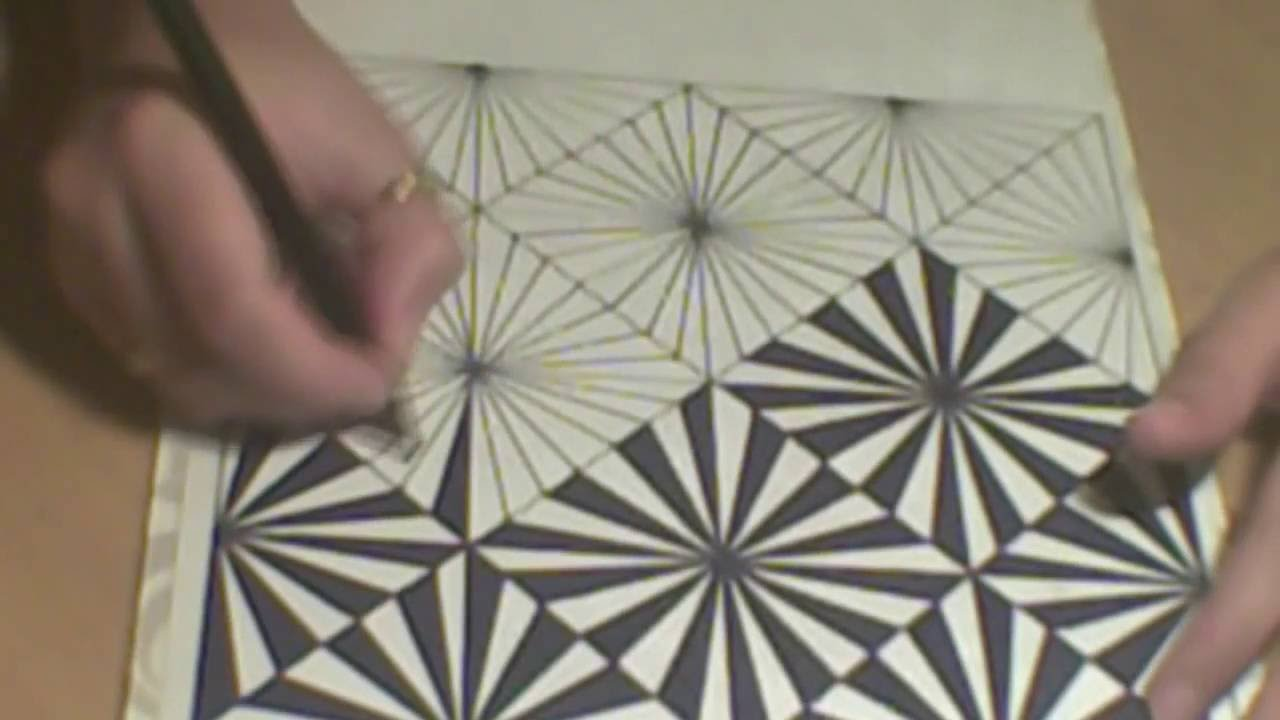 Drawn optical illusion op art Or to draw op #19