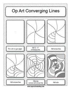 Drawn optical illusion op art Illusions in art com: Op