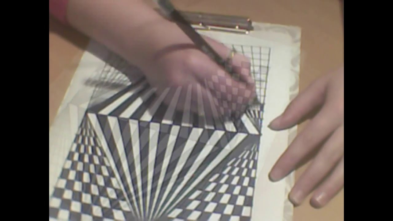 Drawn optical illusion op art Or to draw op #10