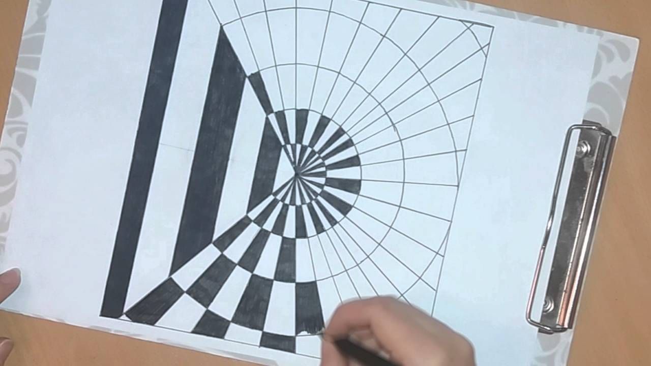 Drawn optical illusion op art Or to draw op #28