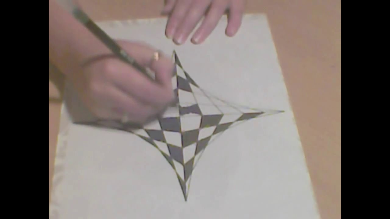 Drawn optical illusion op art Or to draw op #1