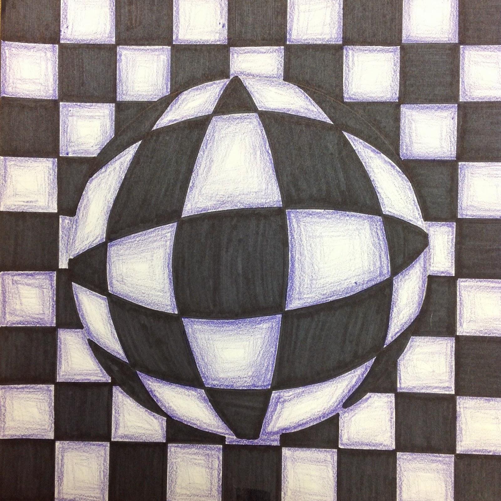 Drawn optical illusion optical design Optical Pants: Optical Miss Lesson