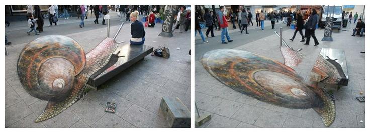 Drawn optical illusion pavement Pavement drawing Illusions pavement artist