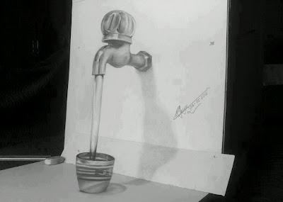 Drawn optical illusion pencil drawing Jesus Picture illusion drawing tap