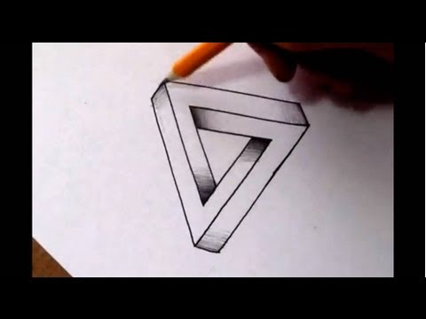 Drawn optical illusion pencil drawing Draw to the show Harris