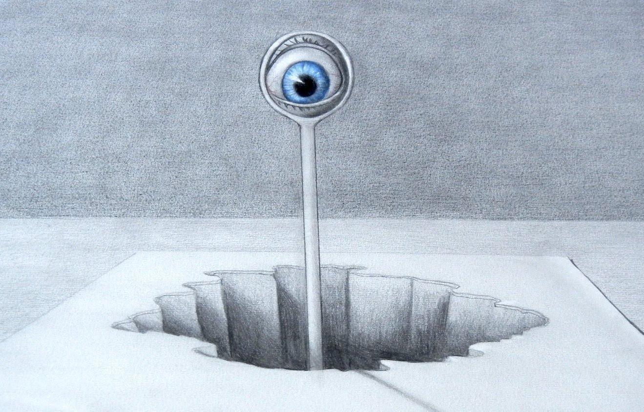 Drawn optical illusion pencil drawing Art Art Tips Optical a