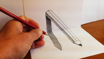 Drawn optical illusion pencil drawing How to art 3D pencil
