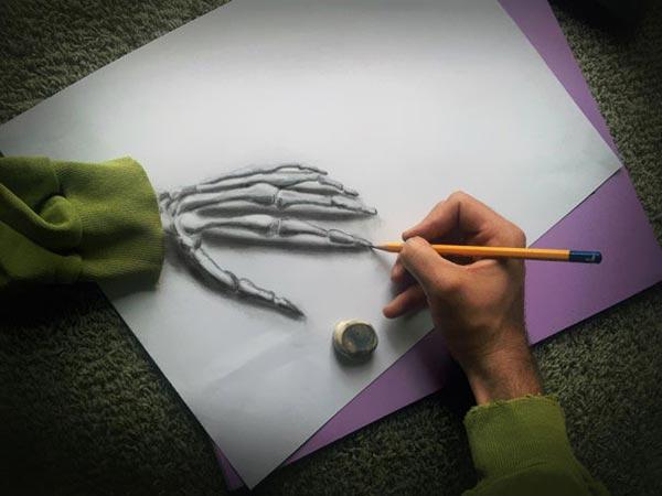 Drawn optical illusion pencil drawing Pencil Drawings 6 pencil art