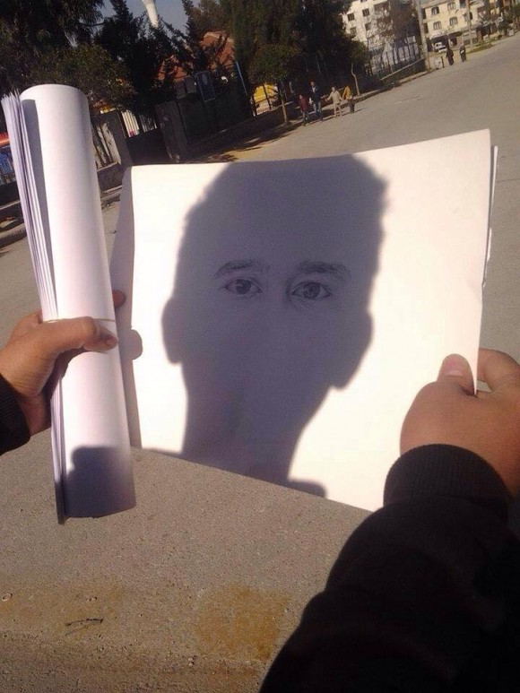 Drawn optical illusion person Http://www Person com/creepy Outdoor http://www