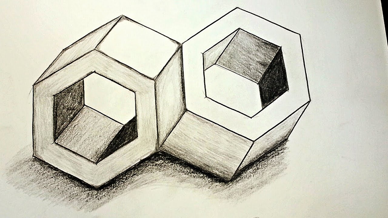 Drawn optical illusion perspective drawing How Inseparable ✍ Illusions Draw