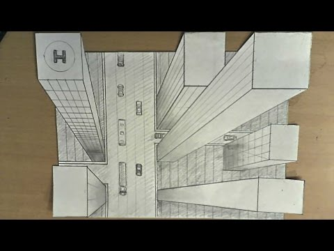 Drawn optical illusion perspective drawing Draw to high illusion 3d