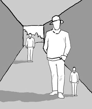 Drawn optical illusion perspective drawing DRAWING e Pastello Prospettiva di