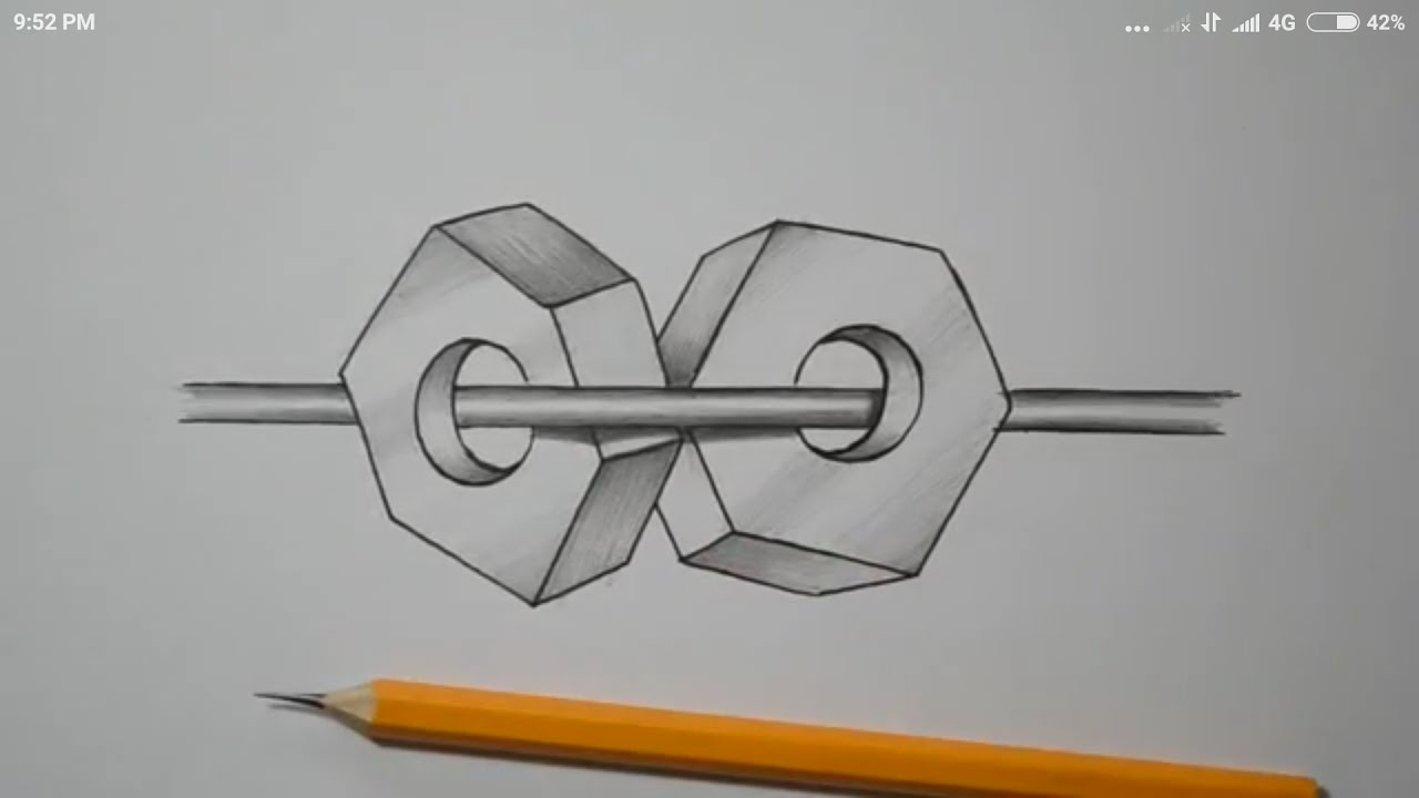 Drawn optical illusion quick How impossible  illusion sketch)