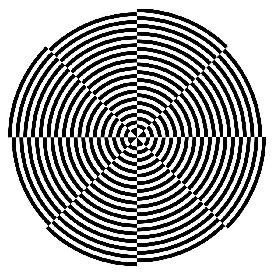 Drawn stare optical illusion Design 30 Spiral And Pictures