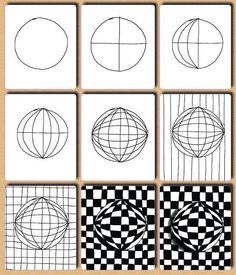 Drawn optical illusion quick Kids finishers activity illusion pic