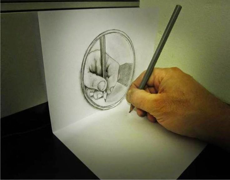 Drawn optical illusion realistic On com: Pinterest Optical Mirror