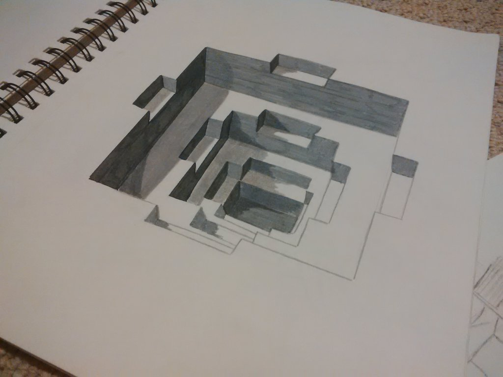Drawn optical illusion really Optical Illusion (Old DeviantArt by