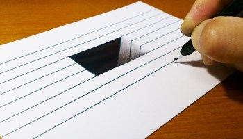 Drawn optical illusion really Easy!! How Illusion Step 3D