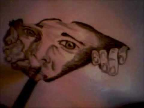 Drawn optical illusion ripped paper Through YouTube drawing illusion Paper)