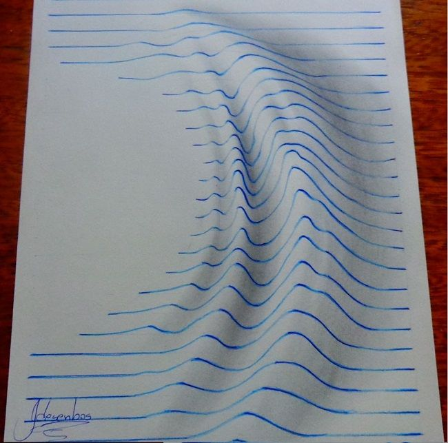 Drawn optical illusion ripped paper Best 25+ Pinterest How illusions