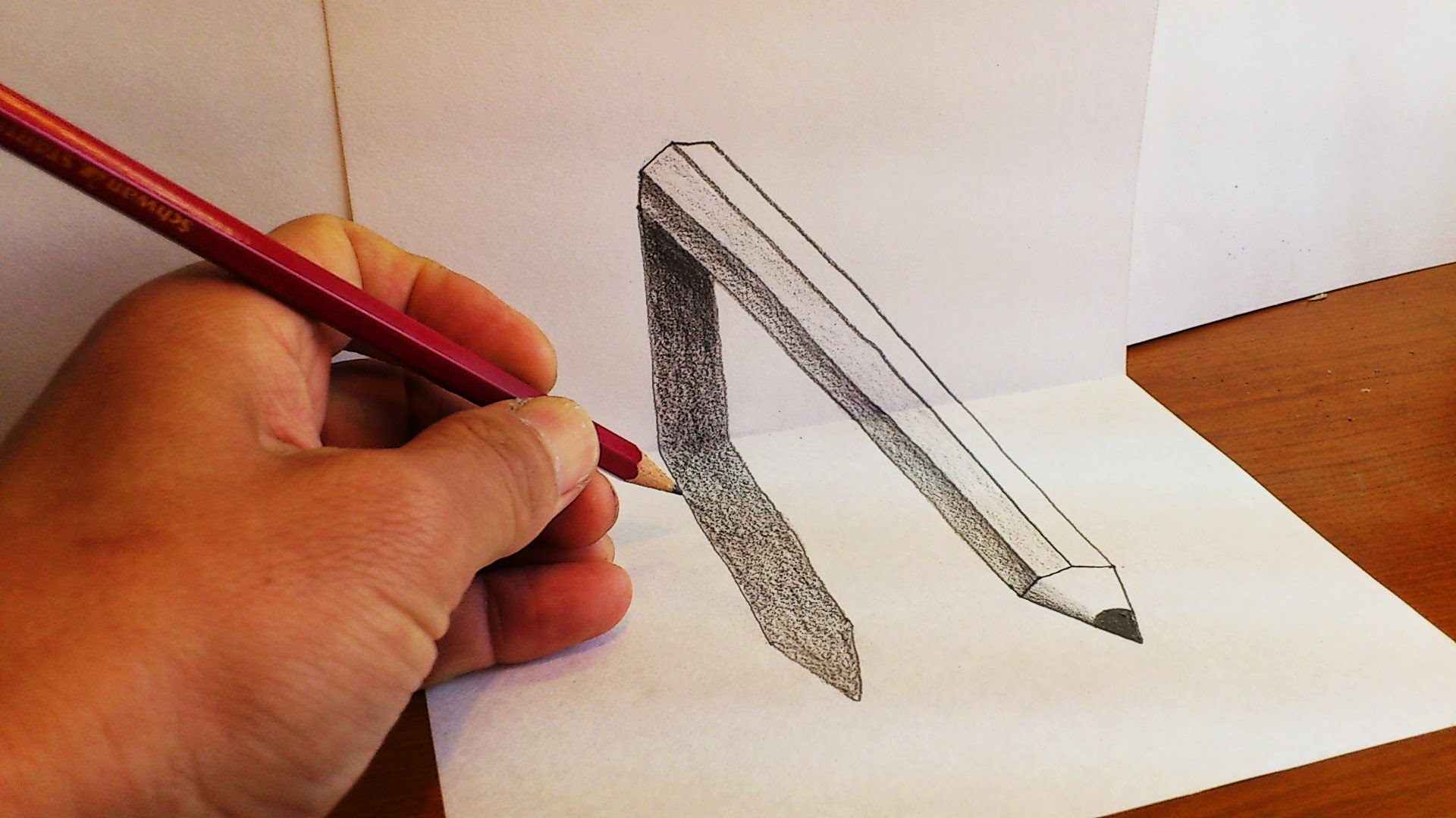 Drawn 3d art paper Art pencil 3D Unsubscribe YouTube
