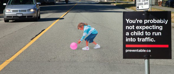 Drawn optical illusion road Improve Canada road chalk attempts