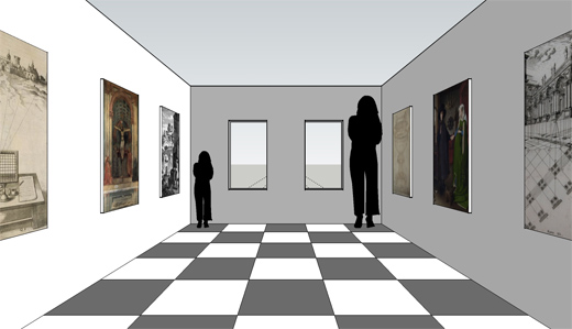 Drawn optical illusion room Ames to  Resources: room