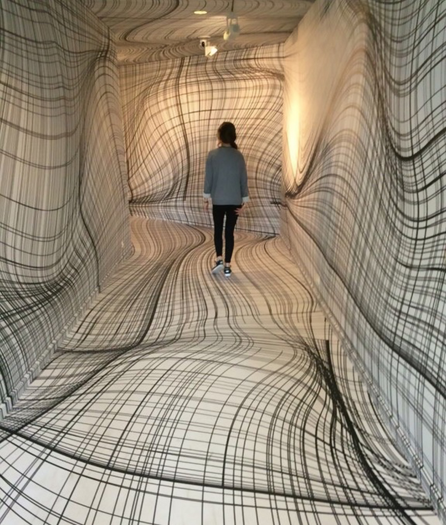Drawn optical illusion room  Peter Peter By for
