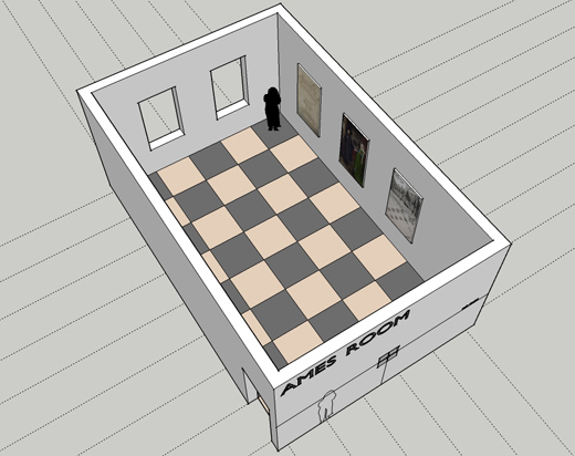 Drawn optical illusion room Resources: an Ames Ames to