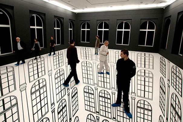 Drawn optical illusion room Illusion  Room Optical Scary