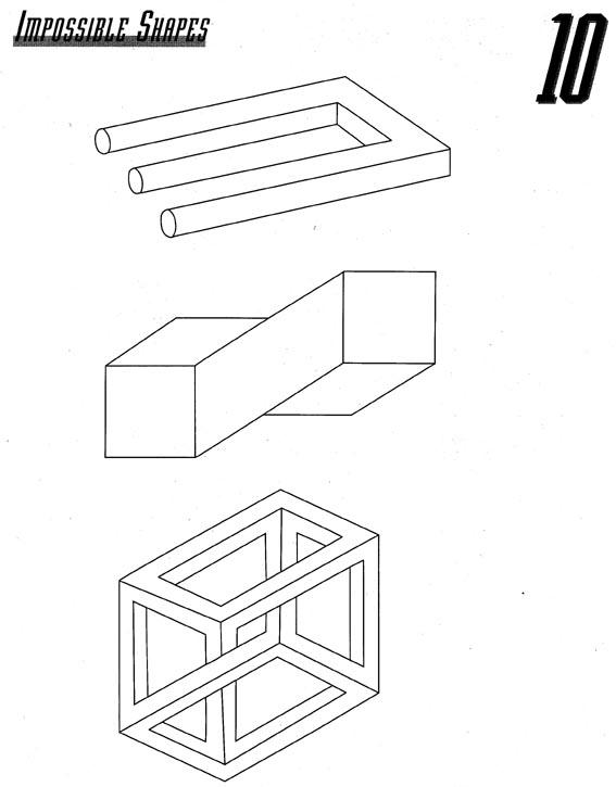 Drawn optical illusion shape EBaum's Cool 4 Illusions Cool