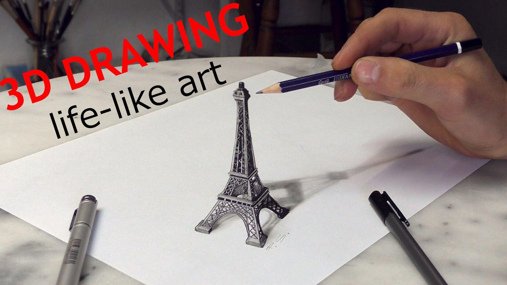 Drawn 3d art magic #3